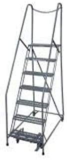 product image for Cotterman 1007R2630A6E20B4D3C1P6 - Rolling Ladder Steel 100In. H. Gray