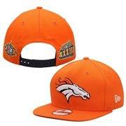 Denver Broncos Super Bowl Patch Post Adjustable Snapback Hat / Cap from New Era