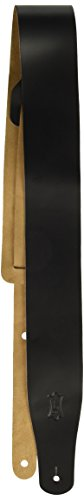Levy's Leathers M26-BLK 2 1/2 leather guitar strap, Adjustab