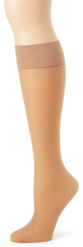 (Hanes Alive Full Support Sheer Knee Highs 2-Pack_Little Color_One Size)