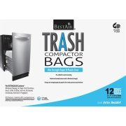 PACK OF 4 - Bestair Heavy Duty Compactor Bags, 16'' D x 9'' W x 17'' H, 12 Ct