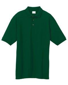 Anvil 6020 Mens Ringspun Pique Polo FOREST GREEN ()