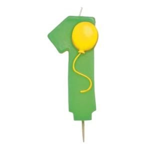 """Creative Converting Number """"1"""" Pick Candle with Balloon, Health Care Stuffs"""
