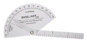 FEI 12-1012 Baseline Plastic Goniometer, Finger, Flexion to Hyper-Extension