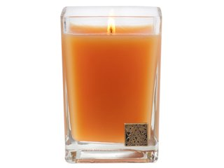 Valencia Orange Medium Glass Cube Candle by Aromatique (Orange Scented Candles)