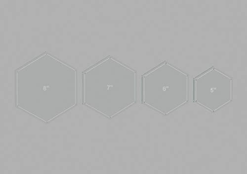 Quilting Template Set - Hexagon Quilting Template Set, 5