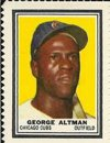 1962 Topps Stamps (Baseball) Card# 6 george altman of the Chicago Cubs VGX Condition
