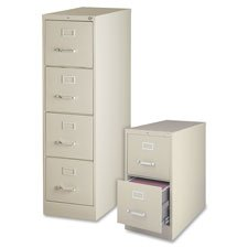 Lorell 4-Drawer Vertical File, 18 by 26-1/2 by 52-Inch, Putty (Vertical File Cabinet 4 Drawer)