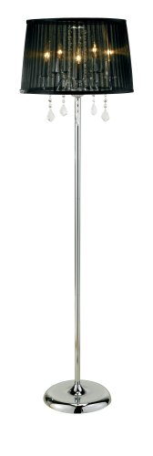 Adesso Cabaret Floor Lamp, Chrome