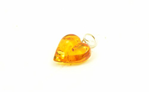 Genuine Baltic Amber Heart Pendant, Hand Made From Genuine Baltic Amber, Pendant For Necklace … - Amber Heart Pendant