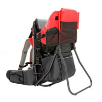 Baby Back Pack Cross Country Carrier Stand Child Kid Sun Shade Visor Shield Red by Clevr (Image #1)