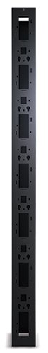 APC PerformanceVertical Cable Manager for 2 and 4 Post Racks Single-Sided with Door AR8615, Black by APC