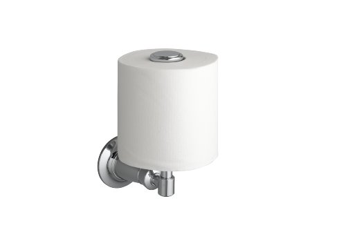 Image of Kohler K-11056-CP Archer Vertical Toilet Tissue Holder, Polished Chrome