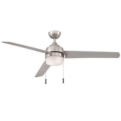 Hampton Bay Carrington 60 In. Indoor/outdoor Brushed Nickel Ceiling Fan by Hampton Bay