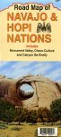 Road Map of Navajo & Hopi Nations Includes Monument Valley, Chaco Culture, and Canyon de Chelly