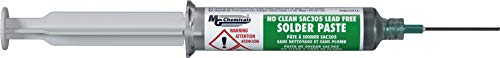 MG Chemicals 4900P SAC305, Lead Free Solder Paste, No Clean, 25 g (0.9 oz) Pneumatic Dispenser (Complete with Plunger & Dispensing Tip)