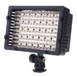 ePhoto CN160 DV160 160 LED 5400K Pro Super Bright Dimmable Camera Video Shoe Mount Light Panel with 3 Filters (Black)