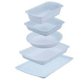 White Bakeware Set - 5-Piece CeramaBake White Ceramic Non-Stick Bakeware Cooking Set