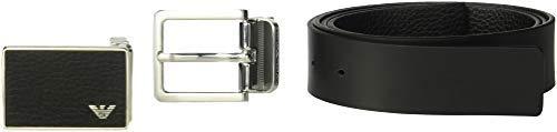 Emporio Armani Men's Designer Belt Gift Box, Black, One ()