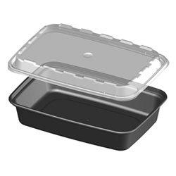 Amazon.com: CR-937B, 38 oz Rectangular Microwaveable Food ...