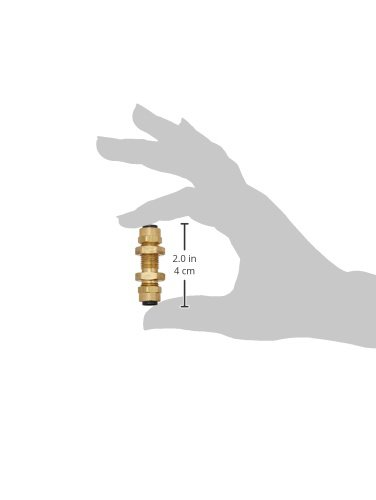 Compression Bulkhead Poly-Tite Parker 62PBH-5-pk20 Compression Fitting for Thermoplastic and Soft Metal Tubing 5//16 Tube to Tube Brass Pack of 20