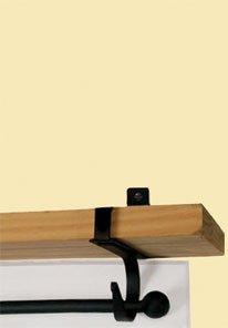 Monazite CUR-SB-87 Plain Curtain Shelf Brackets Powder Metal Coated