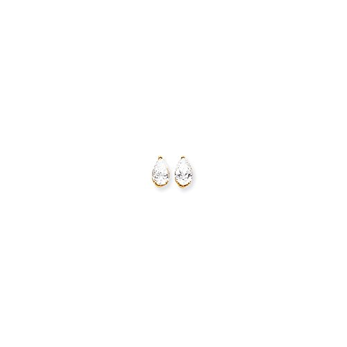 14kt Yellow Gold 9x6 Pear Earring Mountings