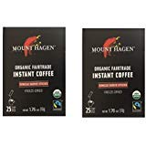 - Mount Hagen -REGULAR Organic Instant Coffee Freeze Dried 25 Single Serve Packets- 1.76 Oz Each, (Pack of 2)