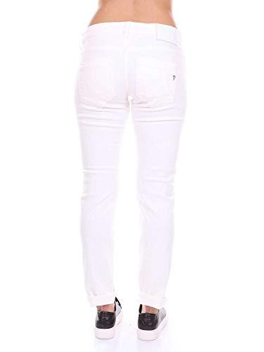 Blanco Jeans Algodon Mujer P692bs018dvptd Dondup wqvInECz