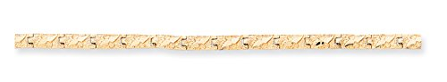 Diamond2Deal 14k Yellow Gold 4.0mm Nugget Bracelet 7inch (Yellow Gold Nugget Bracelet)