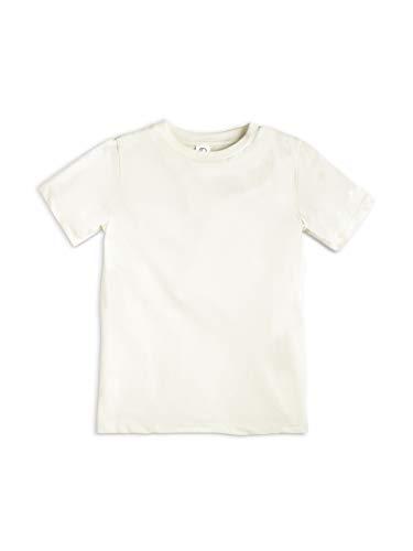 Colored Organics Infant Toddlers and Kids Organic Cotton Short Sleeve Crew Neck Tee Shirt - Natural - 8 / Medium