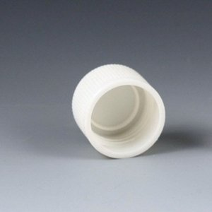 Cap, Screw, for False Bottom Tubes with Threads, White