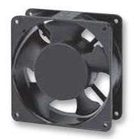 SUNON SP101A-1123HBL-GN AC Fan Ball Flange Mount, 115V, 0.21A-0.18A, 20W-18W, 50 Hz-60 Hz, 2750 rpm-3050 RPM, 120 mm L x 120 mm W x 38 mm H