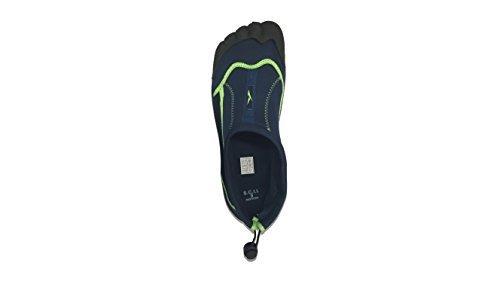 Slipper Rack Men's Waterproof Yoga Exercise Foot Water Shoes, Aqua Socks (7, Navy)