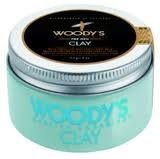 Woody's Quality Grooming for Men Clay Firm Flexible Hold Styling Product 4 Ounces