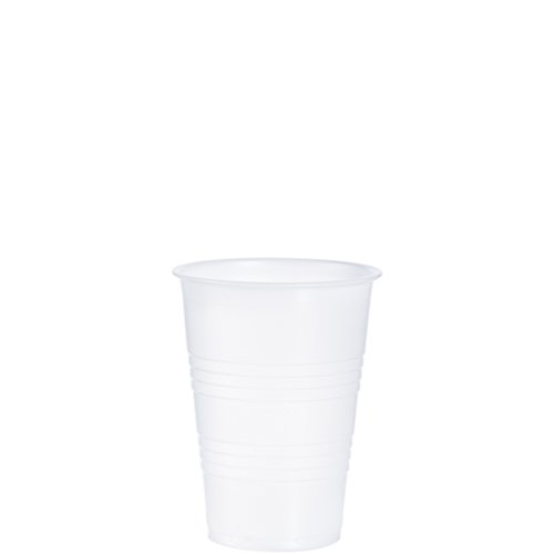 Dart Y10 10 oz Trans Ribbed Wall PS Cup (Case of 2500) ()