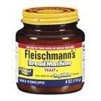 Fleischmanns Bread Machine Yeast, 4 oz (Pack of 12)