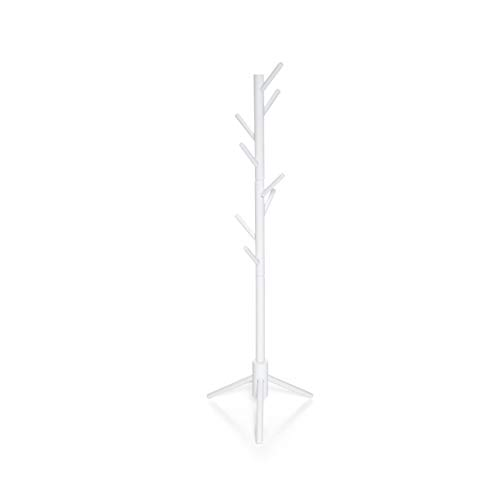 Milliard Kids Coat Tree Rack Hanger Wooden White Rack Organizer Furniture ()