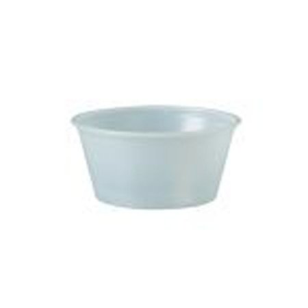 Dart Container Corporation Polystyrene Portion Cups, 3.25oz, Translucent, 250/bag, 10 Bags/carton