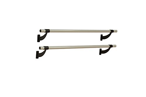 Vita Vibe Ballet Barre - WD72-P 6ft. Double Bar Collared Aluminum Fixed Height Wall Mount Ballet Bar - Stretch/Dance Bar - USA Made by Vita Vibe Wall Mount Ballet Barres