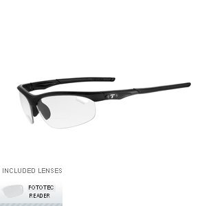 Fototec Single Lens (Tifosi Veloce Light Night Fototec Readers Sunglasses, Matte Black, +2.0)