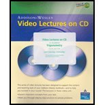 Video Lectures on CD with Optional Captioning for Trigonometry, Lial, Margaret L. and Hornsby, John, 0321530535