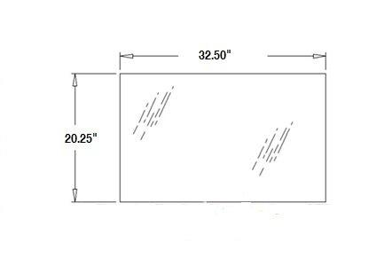 F44630 Case Backhoe Lower Rear Window Glass 580D 580E 680L 780B 780C 780D