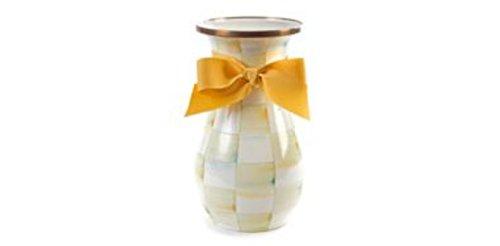 MacKenzie-Childs Parchment Check Enamel Vase - Tall by MacKenzie-Childs