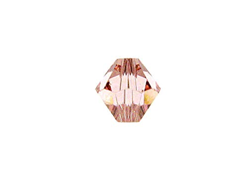 Swarovski Crystal, 5301 Bicone Beads 5mm, Vintage Rose, Wholesale Packs | Pack of - 5301 Bicone Rose