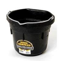Miller CO Flat Back Pail, 8 Quart, Black