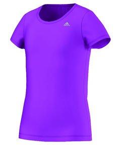 adidas Mädchen Gear Up T-Shirt, Shock Purple/White, 140