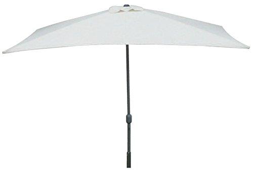 Maffei Art 221 ombrellone rettangolare cm 300x200, tessuto poliestere, telaio in metallo con apertura a manovella. Made in China. Colore ecru.