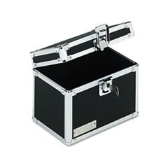 ** Vaultz Locking Index Card File with Flip Top Holds 450 4 x 6 Cards, Black ** 4COU