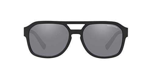 - Armani Exchange Men's Plastic Man Sunglass Non-Polarized Iridium Rectangular, Matte Black, 57 mm